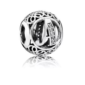 925 Sterling Silver A Charm
